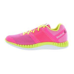 Reebok Kids Girls Pink Yellow Zprint Running Shoes